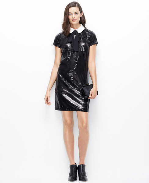 Sequin Tuxedo Dress  $89.88 with extra 60% off