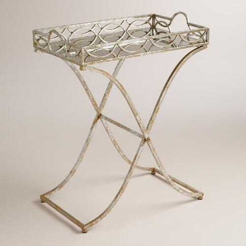 World Market Silver and Gold Soiree Butler Tray Metal $99.99