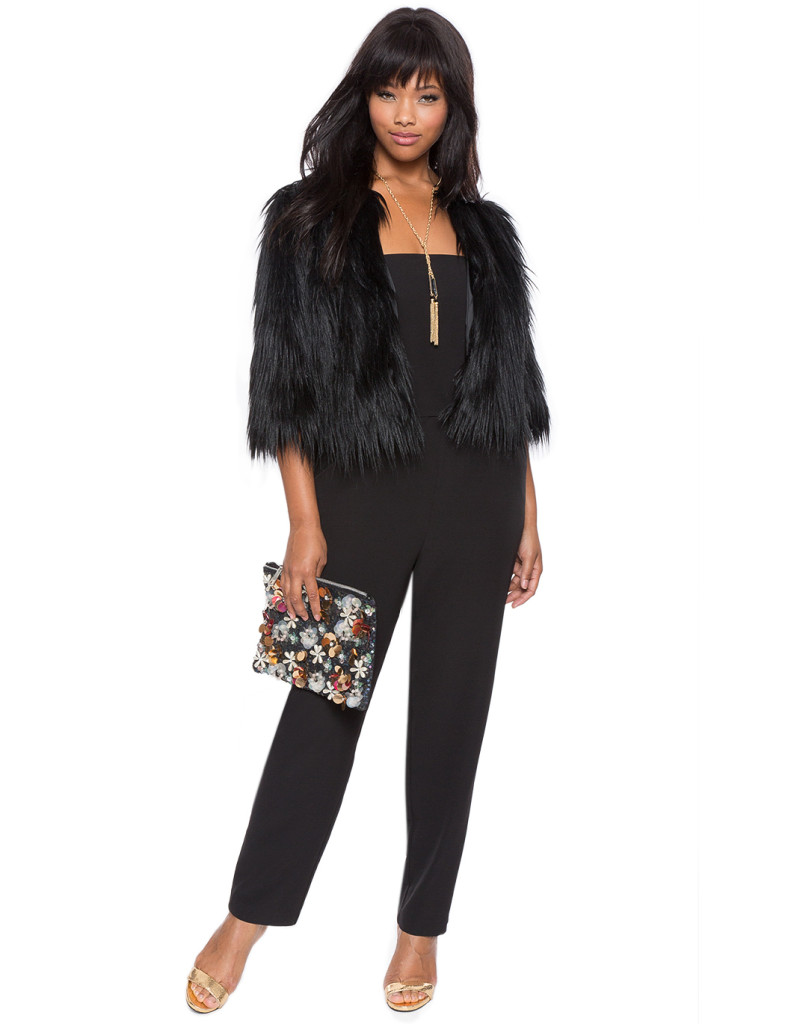 Eloquii Faux Fur Cover Up Jacket Price #TBA